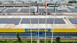 goodyear 2.5MW big solar power system